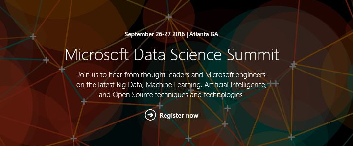 Register Now for the First Microsoft Data Science Summit